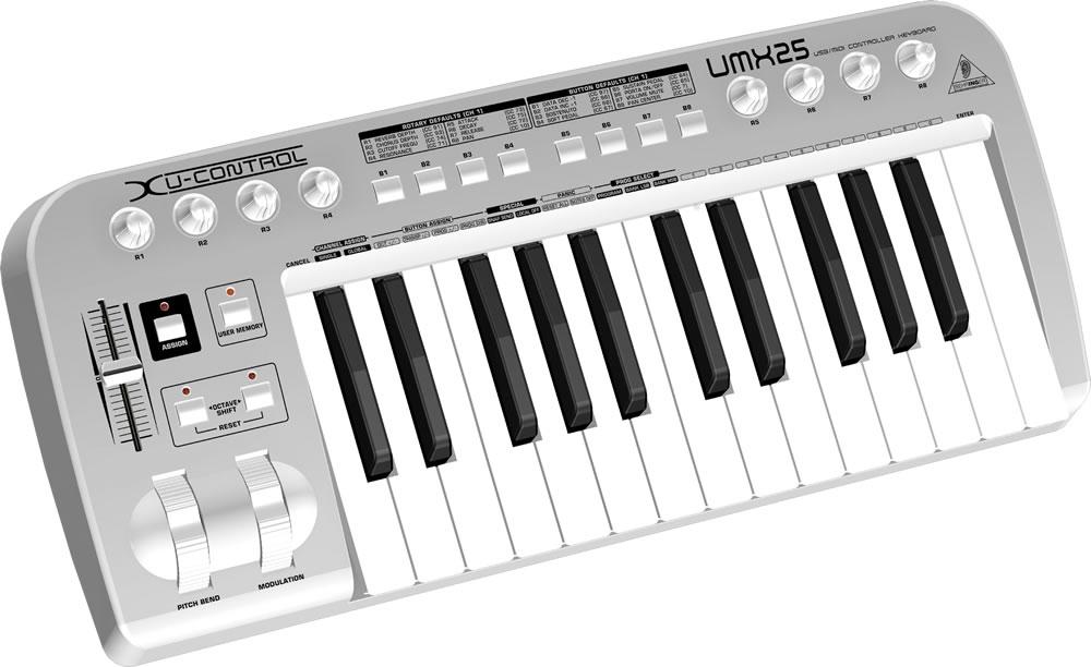 Midi-клавиатуры Behringer UMX25