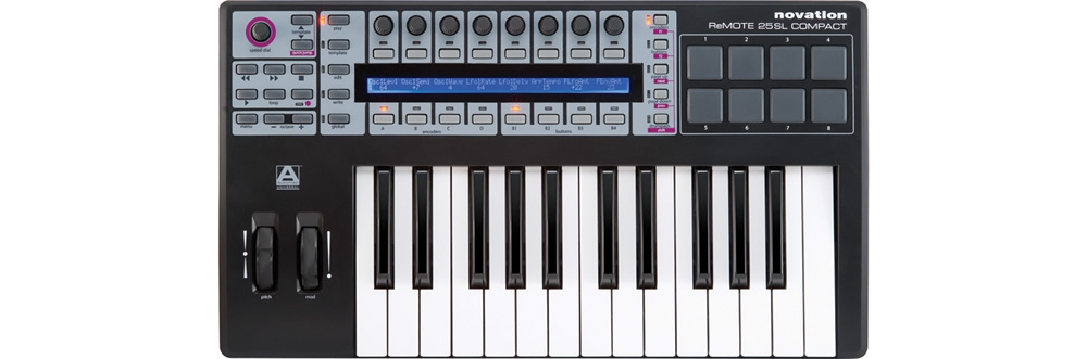 Midi-клавиатуры Novation 25 SL Compact