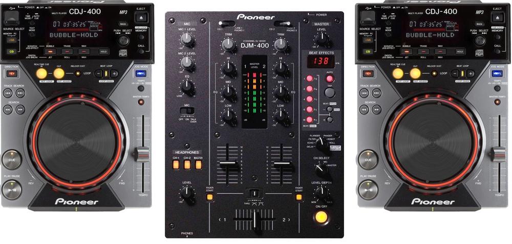 DJ-комплекты Pioneer Комплект CDJ-400 (2шт) +  DJM-400