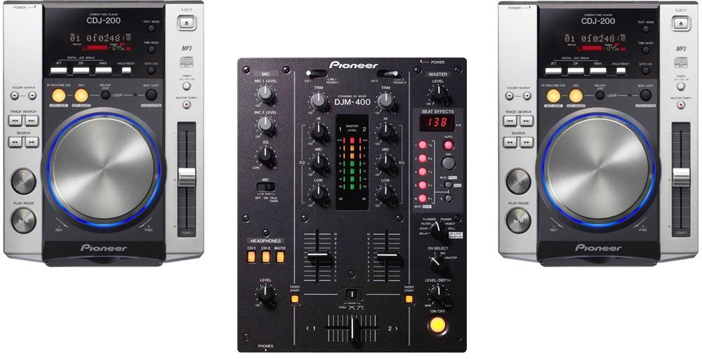 DJ-комплекты Pioneer CDJ-200 (2шт) +  DJM-400