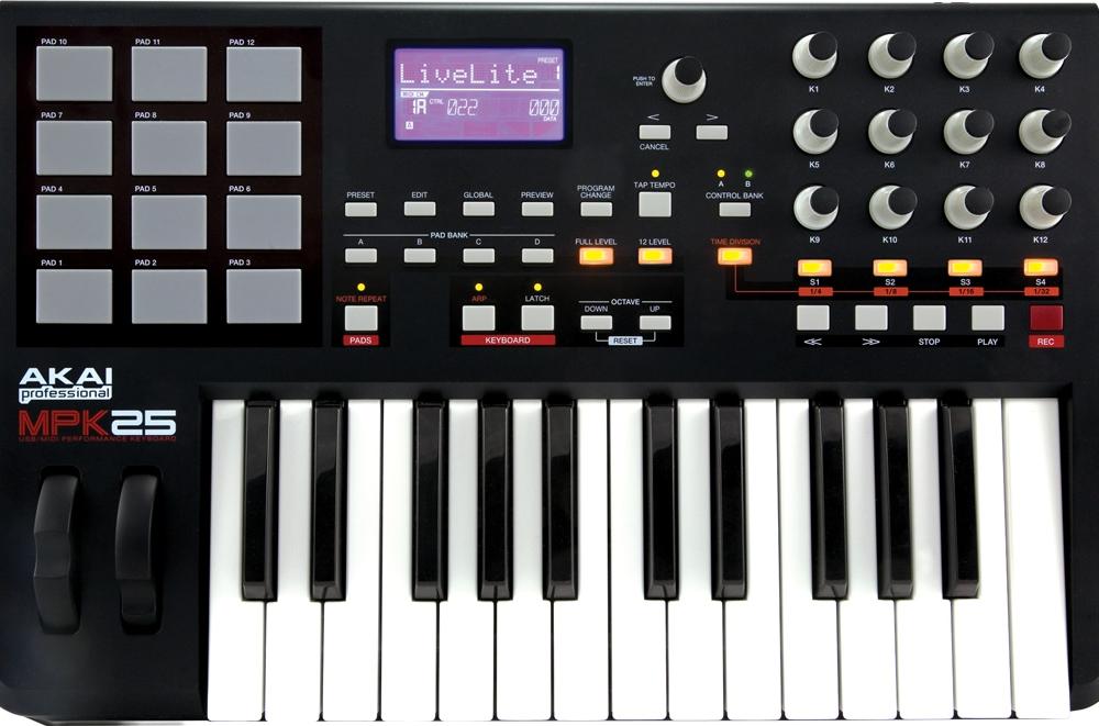Midi-клавиатуры Akai MPK25