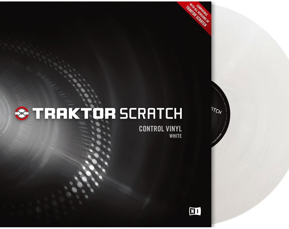 Пластинки с тайм-кодом Native Instruments Traktor Scratch Pro Control Vinyl White