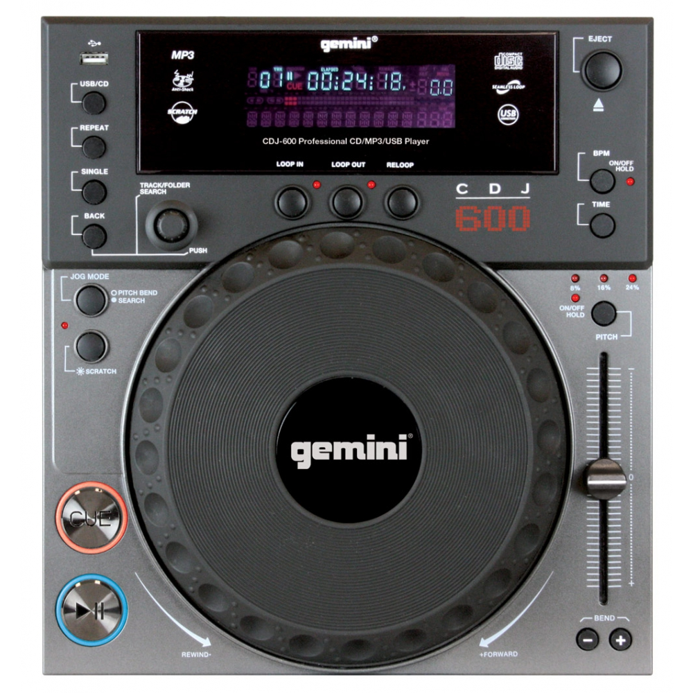 CD/USB-проигрыватели Gemini CDJ-600