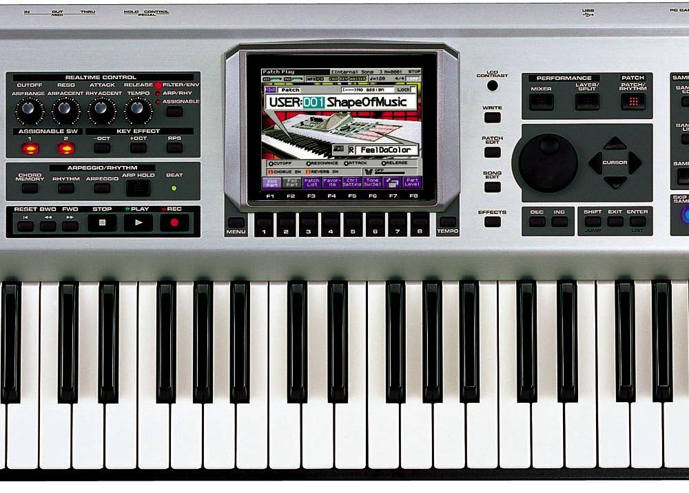 Синтезаторы и рабочие станции Roland Fantom X6