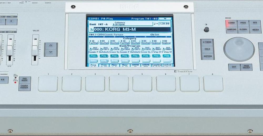 Синтезаторы и рабочие станции Korg M3-M