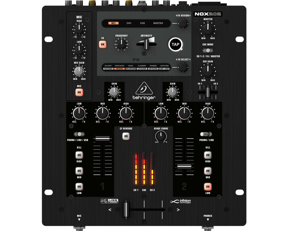 DJ-микшеры Behringer NOX202