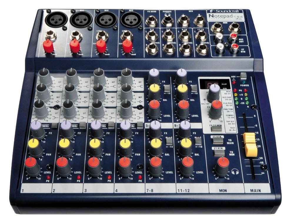 Микшерные пульты Soundcraft Notepad 124FX