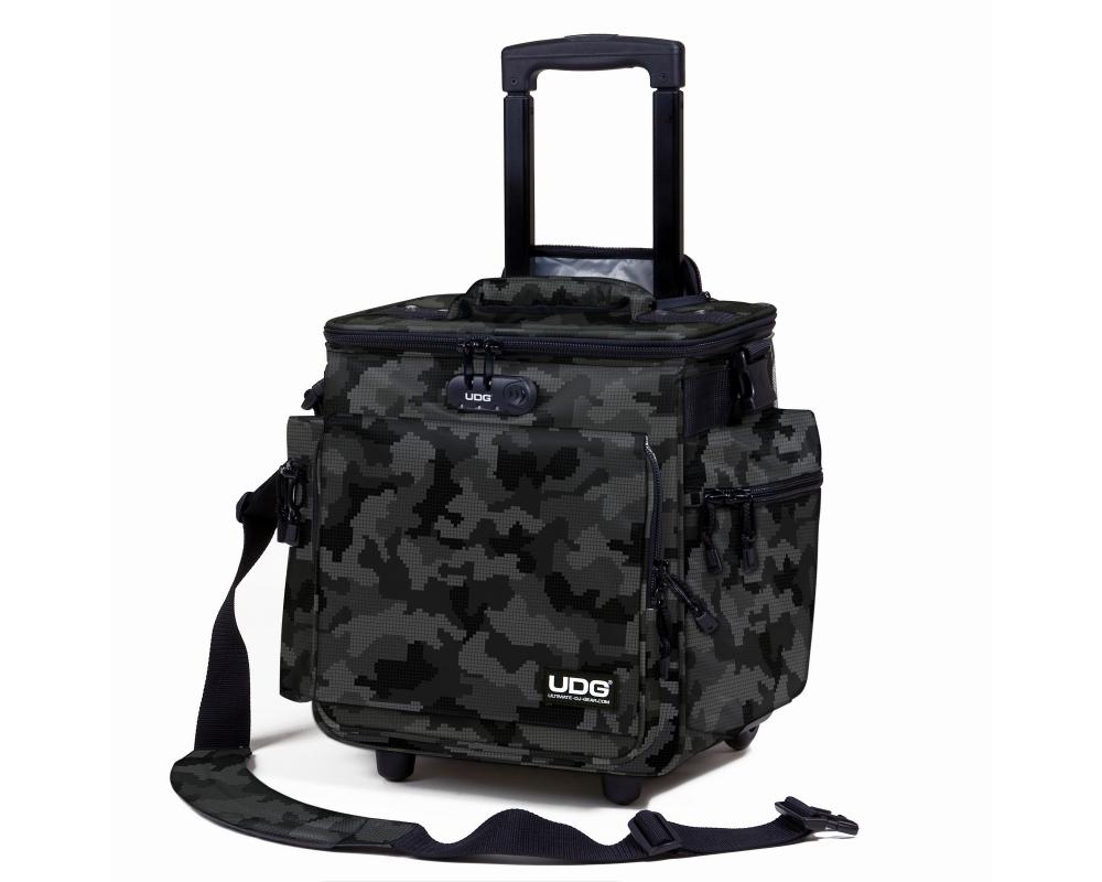 Сумки для пластинок UDG Ultimate SlingBag Trolley DeLuxe Digital Camo Grey