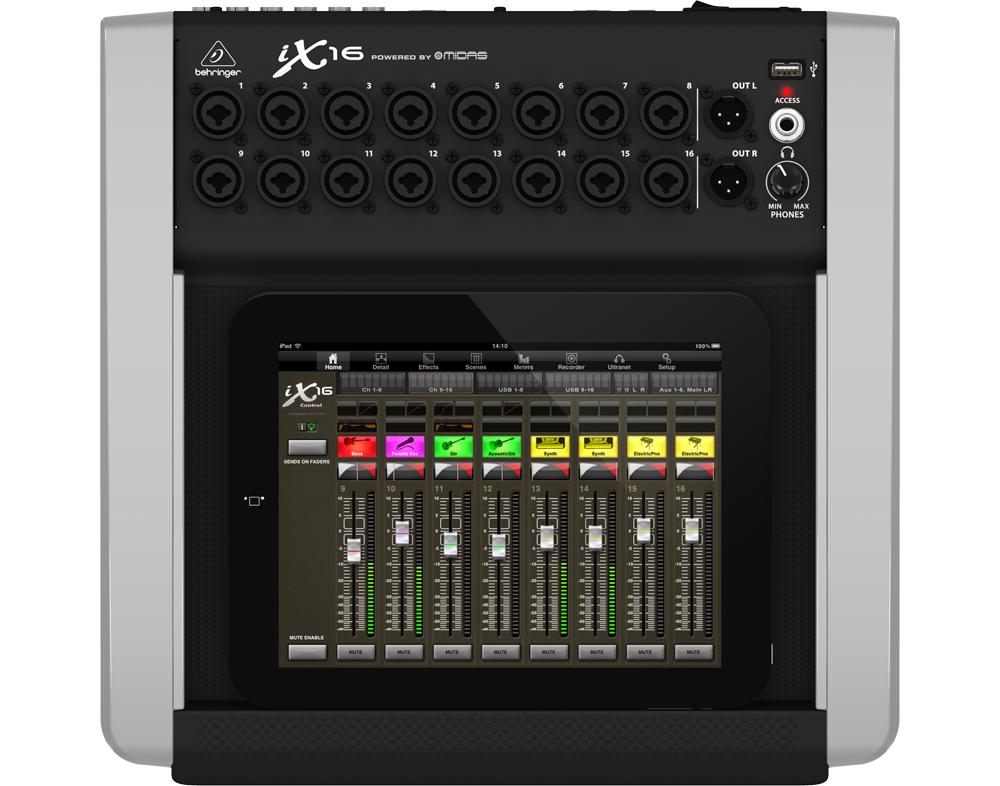 Микшерные пульты Behringer iX16 iPad mixer