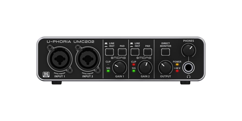 Звуковые карты Behringer U-PHORIA UMC202 HD