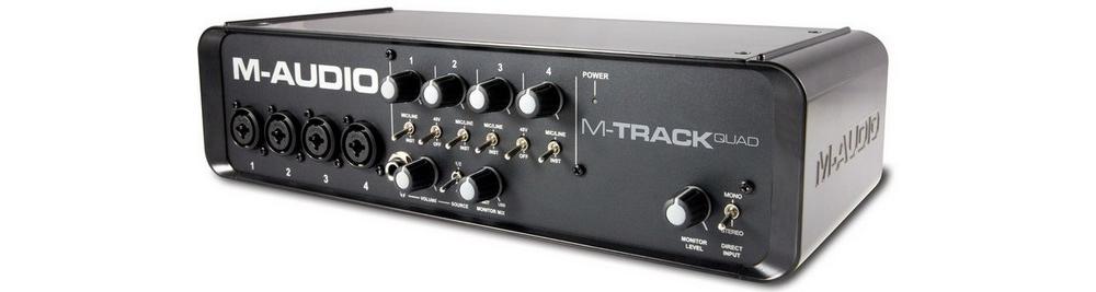 Звуковые карты M-Audio M-TRACK QUAD