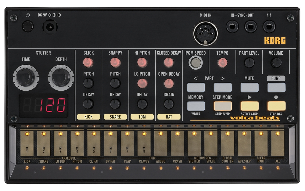 Синтезаторы и рабочие станции Korg Volca beats