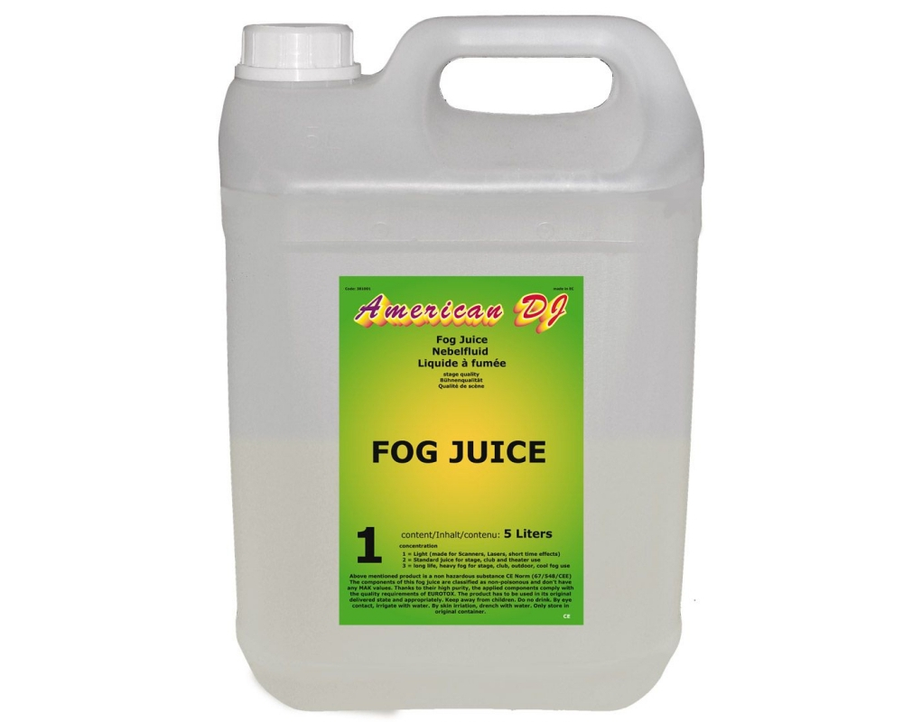 Спецэффекты American Audio Fog juice 1 light 5L