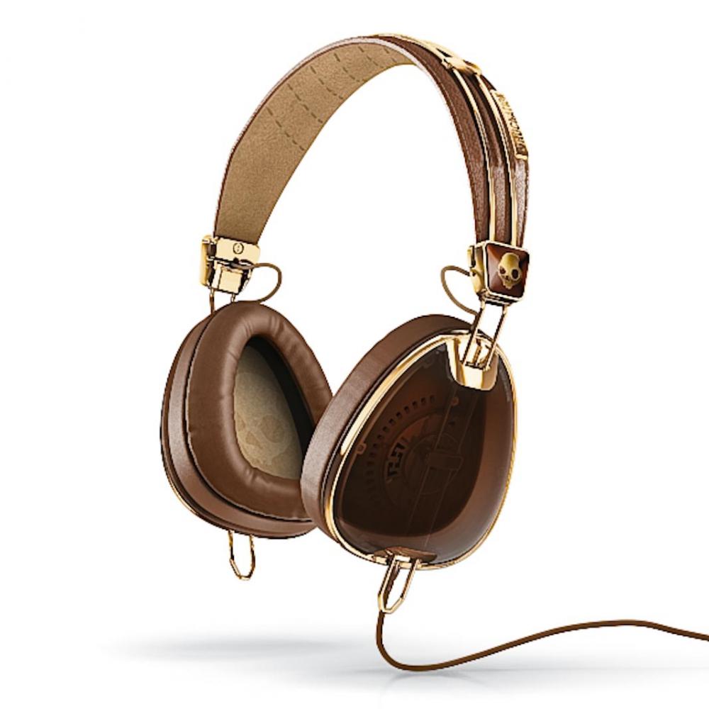 Наушники для аудиофилов Skullcandy AVIATOR BROWN/GOLD W/MIC3