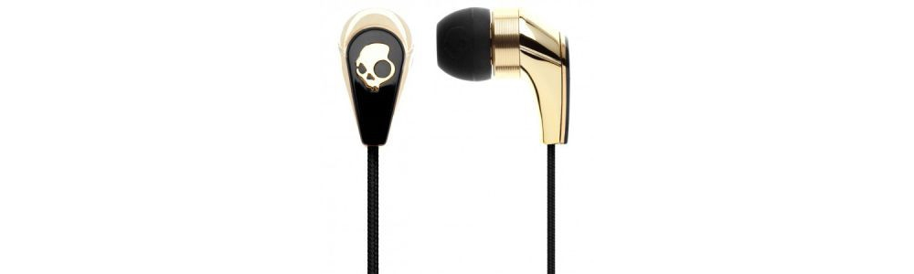 Наушники для плеера Skullcandy 50/50 Gold/Black W/MIC