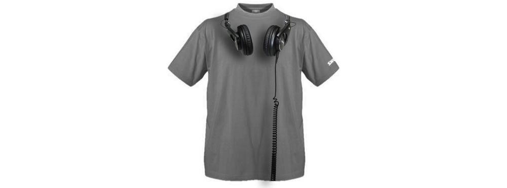 Футболки Shure T-SHIRT WITH SHURE SRH HEADPHONES