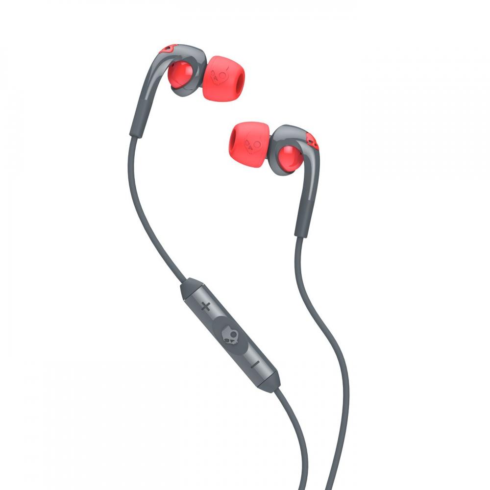 Наушники для плеера Skullcandy Fix In-Ear Hot Red Gray