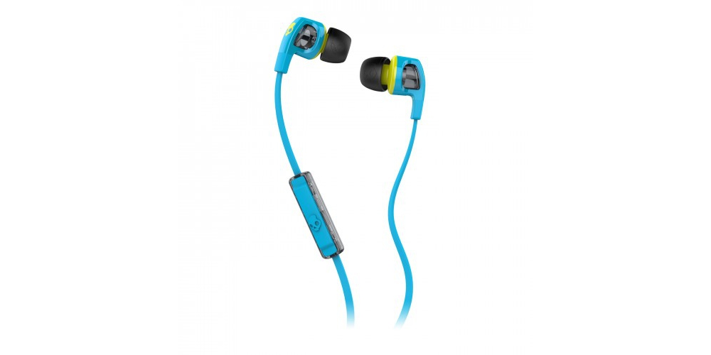 Наушники для плеера Skullcandy Smokin Bud 2.0 Hot Blue/Hot Lime Mic1
