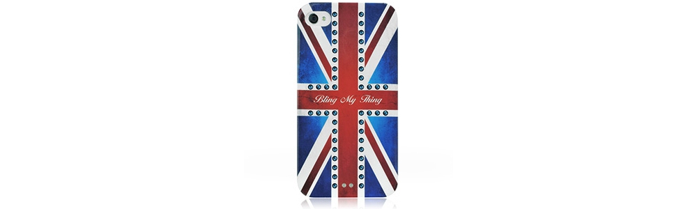 Apple accessories  Bling My Thing Retro Union Jack Montana