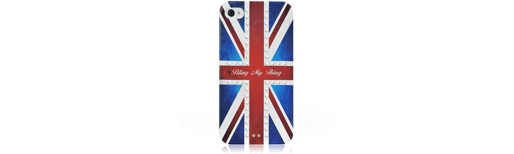 Apple accessories  Bling My Thing Retro Union Jack Crystal