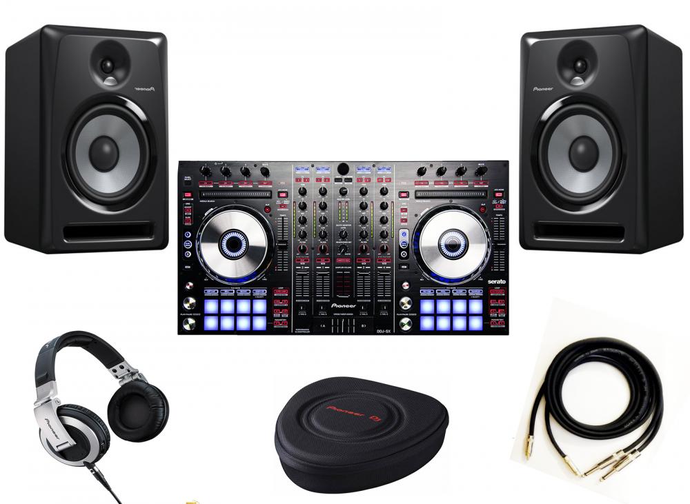 DJ-комплекты Pioneer DDJ-SX+Pioneer S-DJ80X(пара)+Pioneer HDJ-2000+Pioneer HDJ-HC01+PRODJ CABLE в подарок