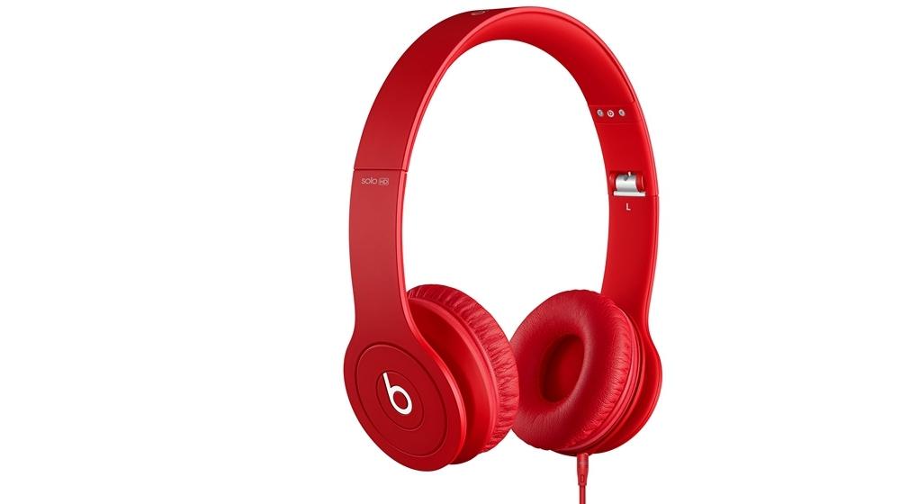 Наушники для плеера Beats by Dr. Dre Solo HD Monochromatic On Ear Headphone Red