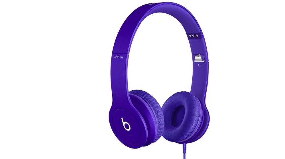 Наушники для плеера Beats by Dr. Dre Solo HD Monochromatic On Ear Headphone Purple