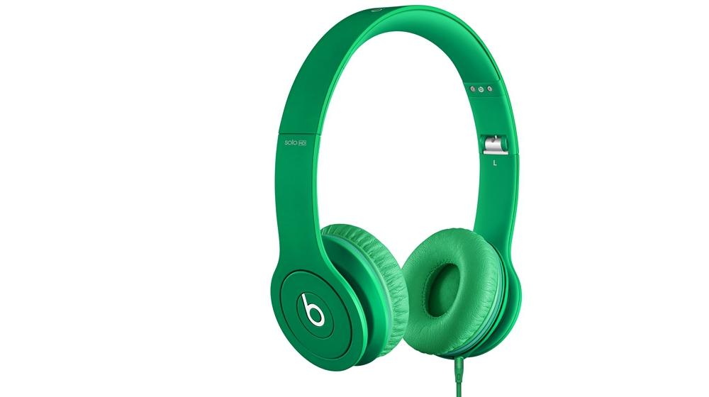 Наушники для плеера Beats by Dr. Dre Solo HD Monochromatic On Ear Headphone Green