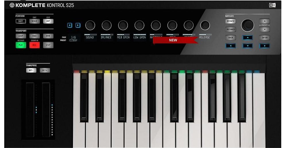 Midi-клавиатуры Native Instruments Komplete Kontrol S25