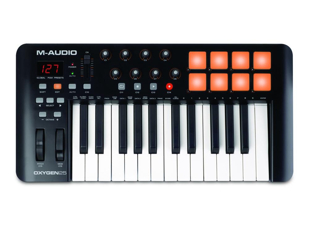 Midi-клавиатуры M-Audio Oxygen 25 mkIV