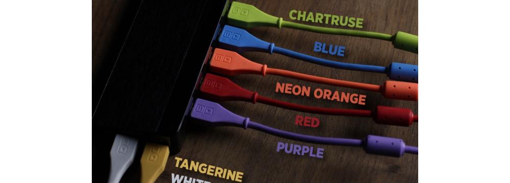 Коммутация DJ Tech Tools Chroma Cables Purple (angled)