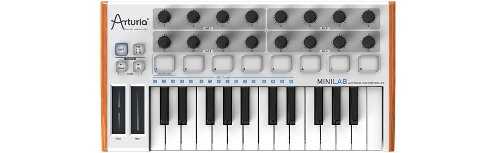 Midi-клавиатуры Arturia MINILAB