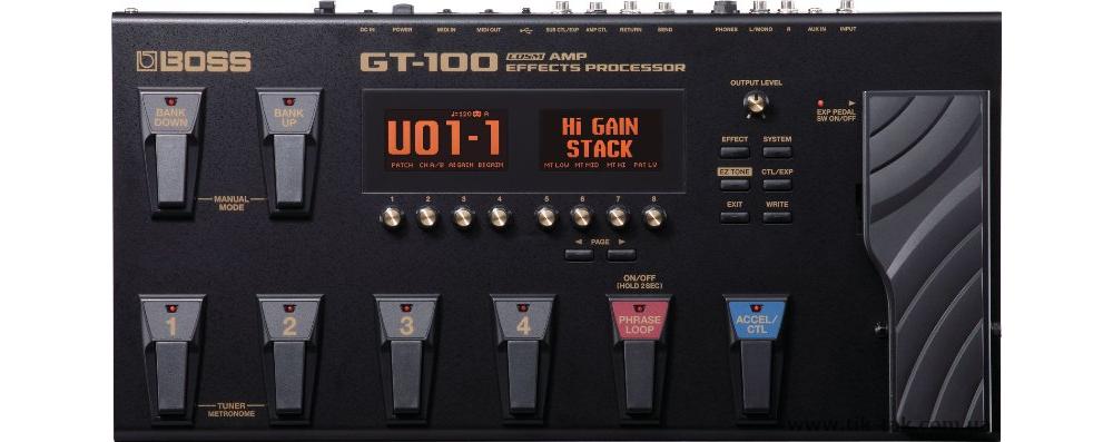 Гитарные процессоры Boss GT-100