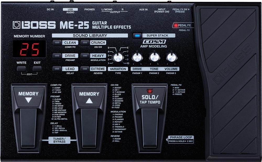 Гитарные процессоры Boss ME-25