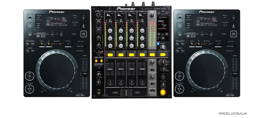 DJ-комплекты Pioneer CDJ-350 (2шт) + Pioneer DJM-700 (1шт)