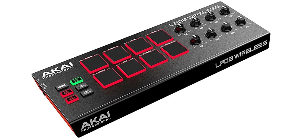Midi-клавиатуры Akai LPD8 Wireless